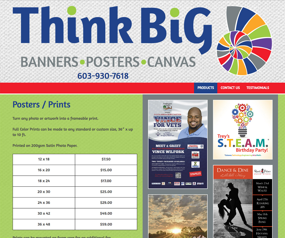 think big prints nh