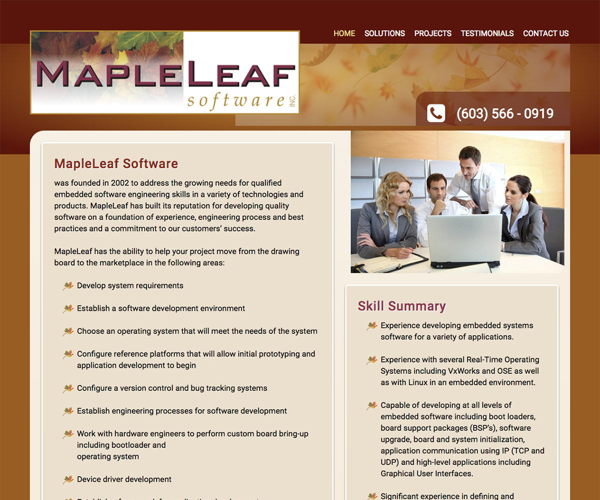 maple leaf software company