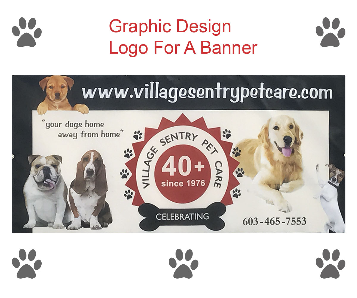 logo for a banner village sentry pet care